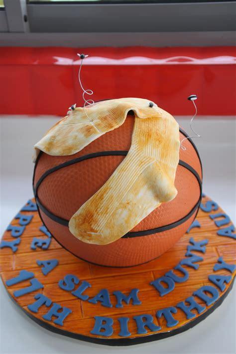 sculpted basketball cake  socks