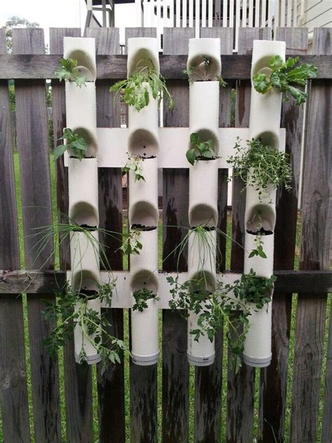 Vertical Garden Pipe by Home Made Vertical Garden Made With Pvc Piping