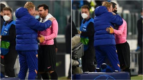 FC Barcelona - La Liga: The hug with a message from Koeman ...