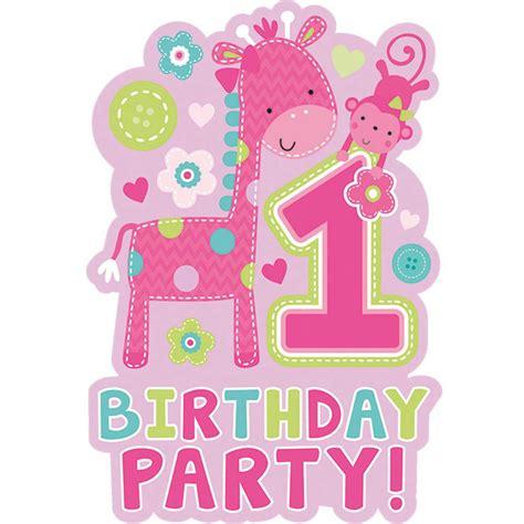 1 kindergeburtstag deko 1 geburtstag m 228 dchen giraffe baby kindergeburtstag dekoration deko set ebay