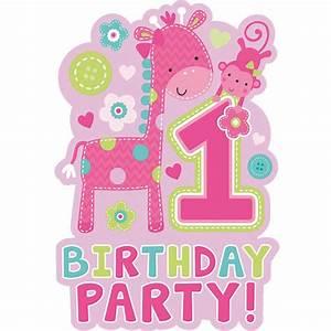 Deko Geburtstag 1 : 1 geburtstag m dchen giraffe baby kindergeburtstag dekoration party deko set ebay ~ Markanthonyermac.com Haus und Dekorationen