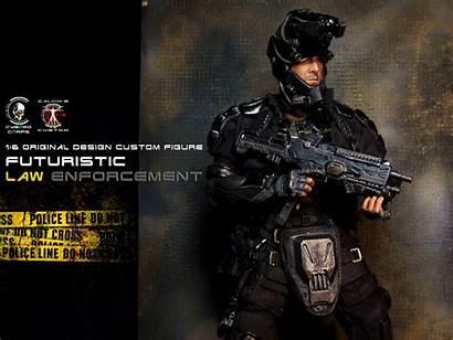 Futuristic Enforcement Law Agent Cyborg Ghost Recon