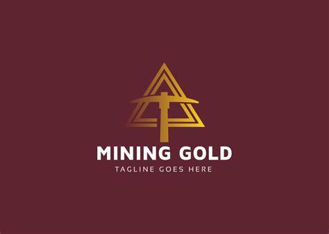 mining gold crypto logo template
