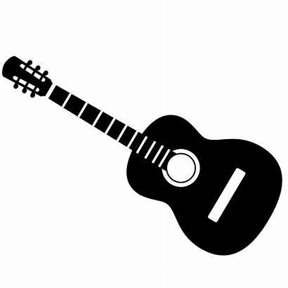 Guitar Acoustic Clipart Clip Silhouette Instruments Musical