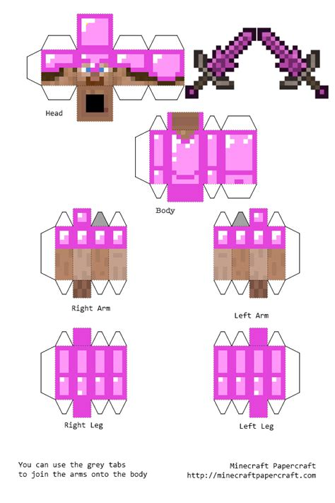 skhemy minecraft iz bumagi