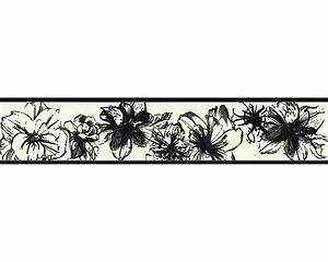 Tapeten Bordüre Weiß : tapete esprit 7 1897 21 bord re floral blume vlies schwarz ~ Orissabook.com Haus und Dekorationen