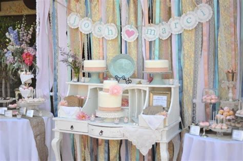 Whimsical Wedding Reception Decor Ribbon Backdrop Wedding