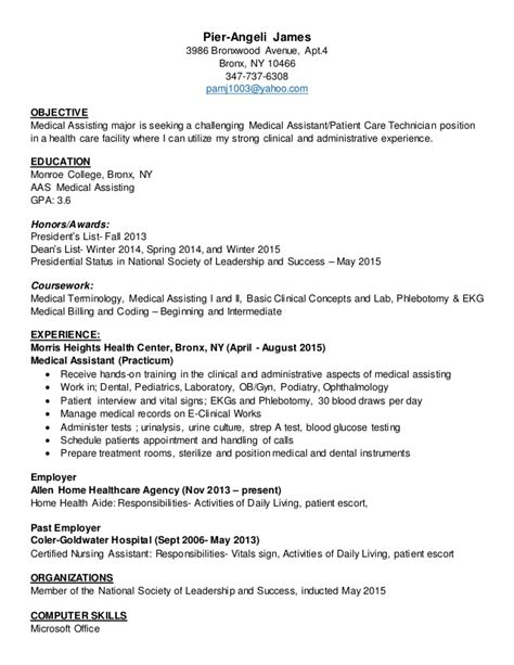 Ob Resume Exles by Assistant Resume