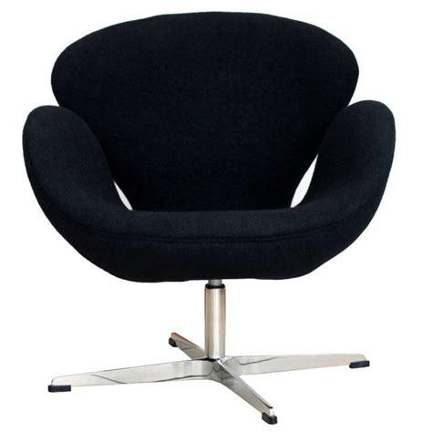 ebay arne jacobsen swan chair in black wool