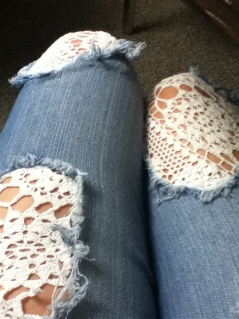 How To Cover A Hole In Pants by Lace To Patch Holes In Jeans Need To Invest In Some