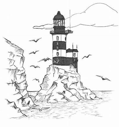 Lighthouse Coloring Pages Printable Adults Lighthouses Drawing