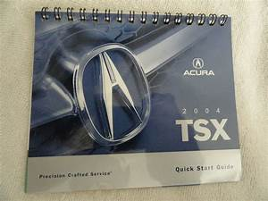 2004 Acura Tsx Quick Reference Guide Owner U0026 39 S Manual
