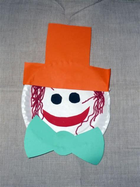 paper plate face art craft  babies