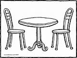 Table Chair Drawing Coloring Chairs Furniture Clipart Pages Round Colouring Colo Kiddicolour Getdrawings Kleurprenten Line Printable Transparent Colour sketch template