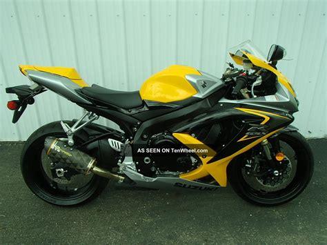 2008 Suzuki Gsx R600 by 2008 Suzuki Gsx R 600 Yellow Um20207rg