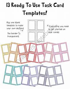 pin by amber robbins on my classroom pinterest With blank task card template