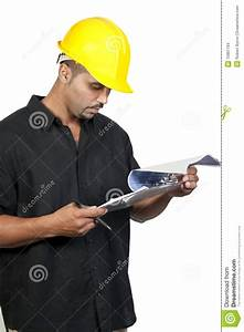 Construction Worker With Clipboard Stock Images