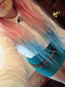 blue dip dye on Tumblr