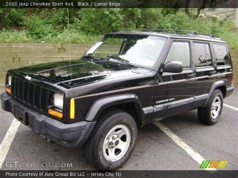 Black 2000 Jeep Cherokee Sport 4x4 Camel Beige
