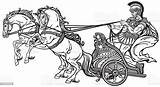 Chariot Roman Carriage Soldier Army sketch template