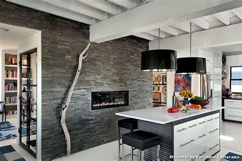 plaquette de parement cuisine plaquette de parement castorama with moderne cuisine
