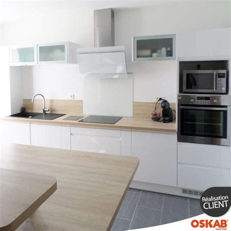 cuisine blanc brillant cuisine blanche sans poignée ipoma blanc brillant meuble