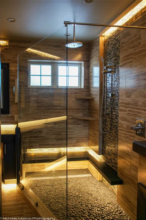 modern spa  master bath makover contemporary