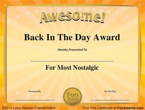 funny award certificates  funny certificates  give