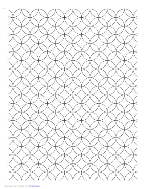 overlapping circles graph paper