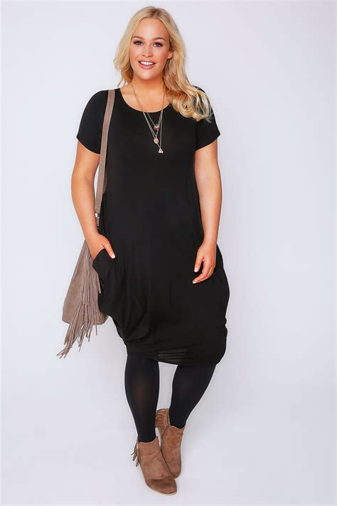 black drape dress black drape side jersey dress plus size 16 to 32