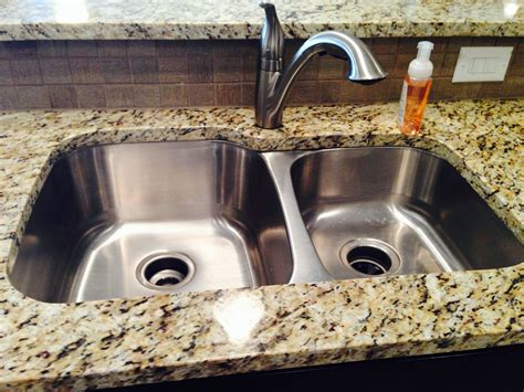 kitchen sinks for granite countertops 60 40 stainless steel undermount sink with granite