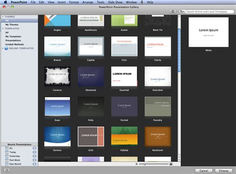 mac powerpoint template  templates  mac  great