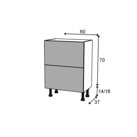tiroirs cuisine meuble de cuisine casserolier keria moka 2 tiroirs l60 x
