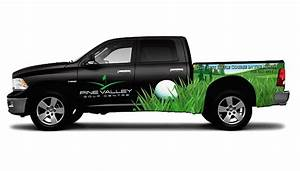 omecca custom graphic design yellowhead golf course With truck lettering design ideas