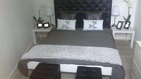 chambre gris et noir chambre noir blanc argent design de maison