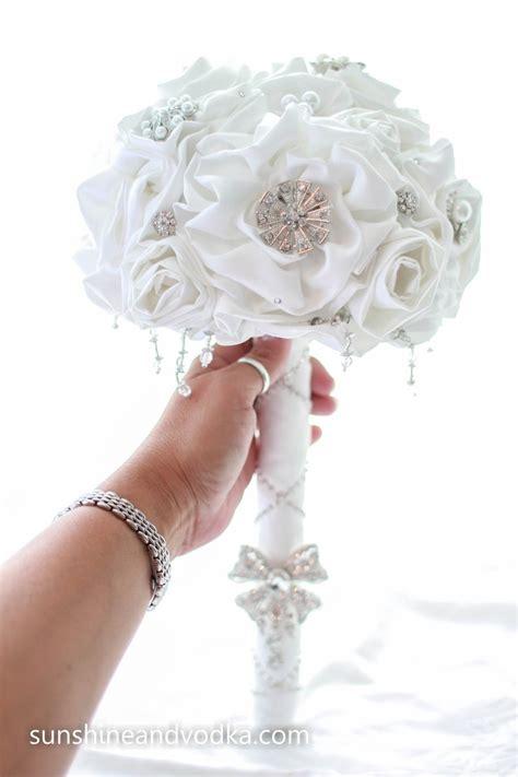 Winter White Wedding Bouquet Bridal Bouquet Rhinestone