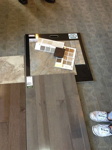Matching grey hardwood floors?? Paint ?? Tiles?