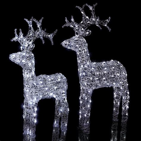 buy john lewis outdoor led standing reindeer light white
