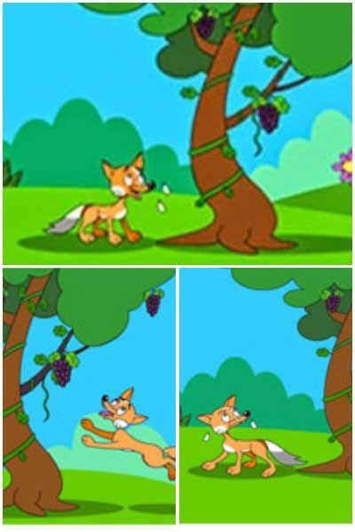 fox   grapes story stories  kids moral