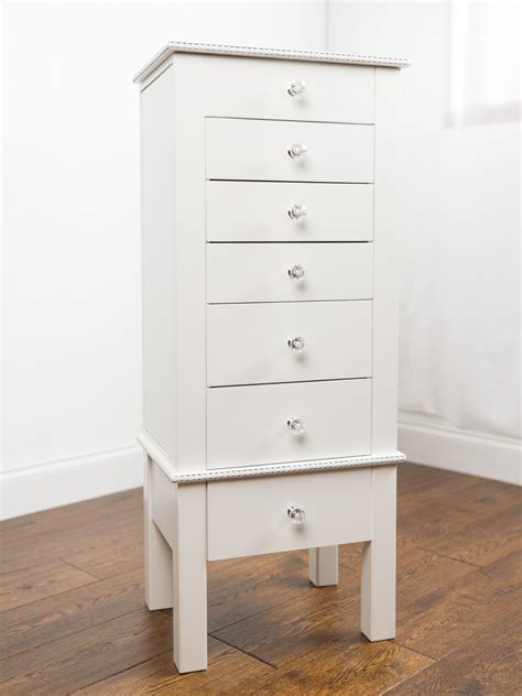 White Jewelry Armoire by Jewelry Armoire Crisp White Hives And Honey