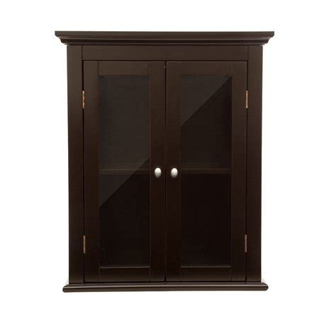 glitzhome wooden wall storage cabinet  double doors