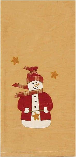 jingle christmas snowman kitchen towel nutmeg