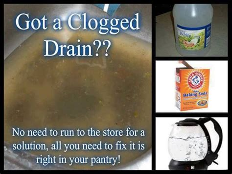 clogged sink vinegar baking soda pin by tomroemusic on good things pinterest