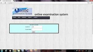 Project Details Of Online Examination System