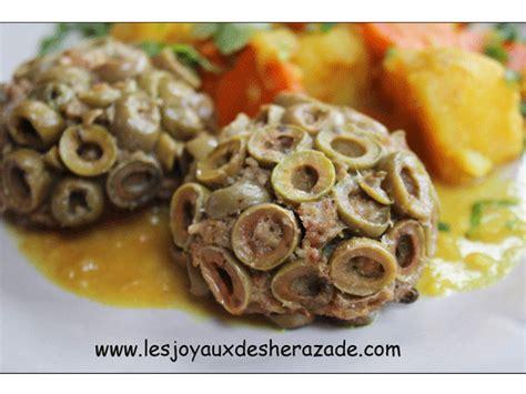 des recettes de cuisine algerien cuisine algérienne viande hachée aux olives