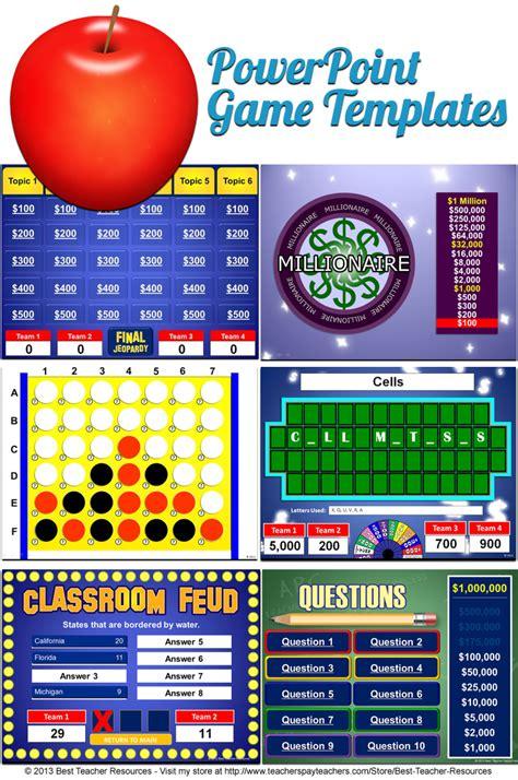 powerpoint game templates  teacher resources blog