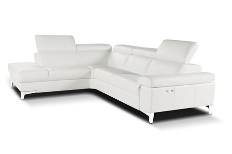 Nicoletti Italian Leather Sofa by Nicoletti Megan Sectional Sofa With Electric Recliner