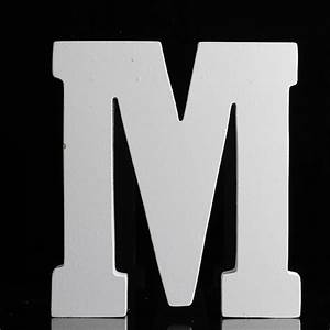 5quot white finished letter 39m39 word and letter cutouts With white letter m