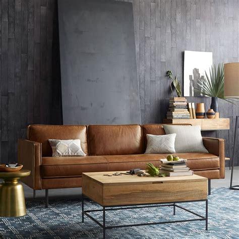 cognac sofa cognac leather sofas    trend