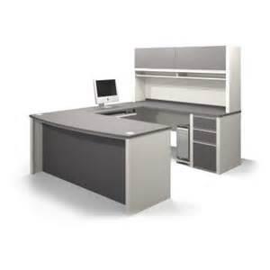 bestar connexion u shaped workstation with hutch